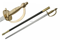 United States Army 1840 NCO Sword with Leather scabbard