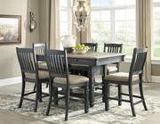 Tyler Creek Black/Gray 7 Pc Rectangular Counter Height Dining Set