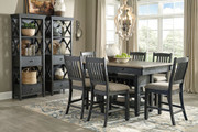Tyler Creek Black/Gray 9 Pc. Rectangular Counter Height Dining Set