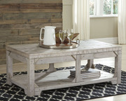 Fregine White Wash Lift Top Cocktail Table