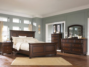 Porter Rustic Brown 7 Pc. Dresser, Mirror, Chest, King Panel Bed & Nightstand