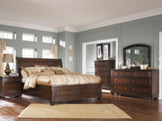 Porter 6 Pc. Dresser, Mirror, Chest & Queen Sleigh Storage Bed