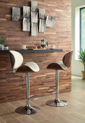 Adjustable Height Barstools Bone Tall Upholstered Swivel Barstool