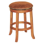 "24""H Sedona Swivel Stool w/ Cushion Seat"