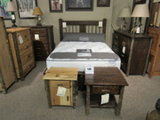Solid Hickory or Rough Sawn Oak Bedroom Set