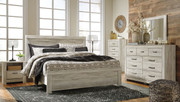 Bellaby Whitewash 7 Pc. King Panel Bed Collection