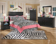Maribel Black 4 Pc. Dresser, Mirror, Chest & Full Panel Headboard