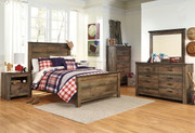 Trinell Brown 5 Pc. Dresser, Mirror & Full Panel Bed
