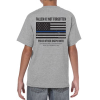 Personalized ODMP Memorial Shirt Honoring Fallen Officers - Youth