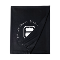 ODMP Logo Sweatshirt Blanket - Black