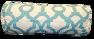 """Aqua Trellis Bolster Pillow Cover 6""""x16"""""""