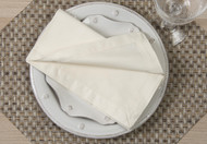 "Ivory Kora Cotton Collection 20""x20"" Napkins"