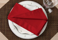 "Red Kora Cotton Collection 20""x20"" Napkins"