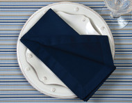 "Navy Kora Cotton Collection 20""x20"" Napkins"