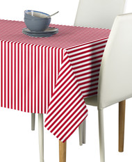 American Red Stripes Rectangle Tablecloths