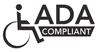 ADA corner grab bar | 42 x 22 inches