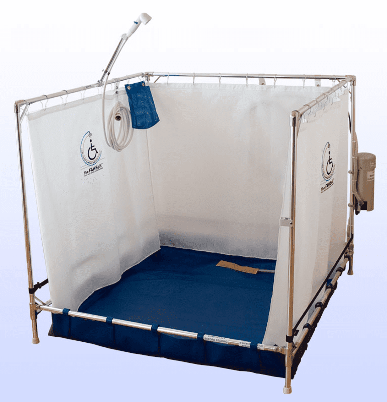 Temporary Shower Enclosures : Portable shower stall fawssit b bariatric