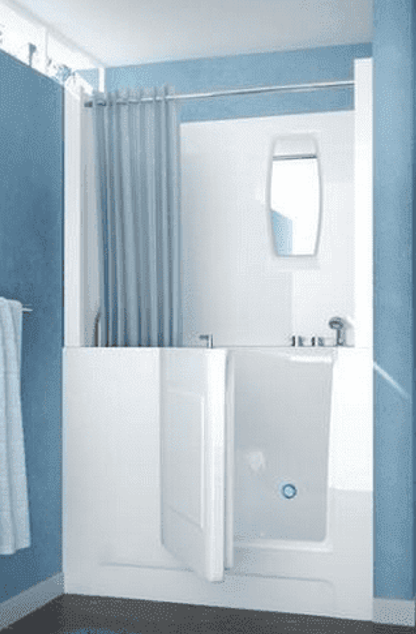 Walk-in Bathtub with Optional Shower Surround | US Made