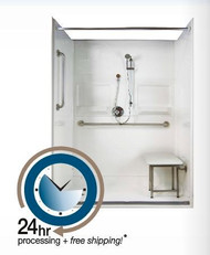 60 x 36 Shower Package Curbless Entry   24 hr Quick Ship