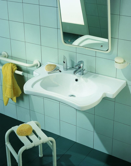 32 x 22 inch wall mounted sink white