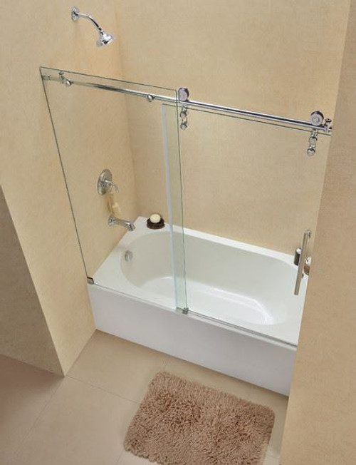 frameless tub shower doors dreamline enigmaz - Tub Shower Doors