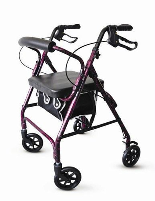 Rolling Walker with Seat | Aluminum | Flame Purple