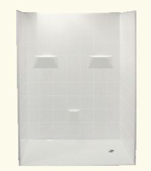 60 X 36 Shower Barrier Free, Left or Right Drain
