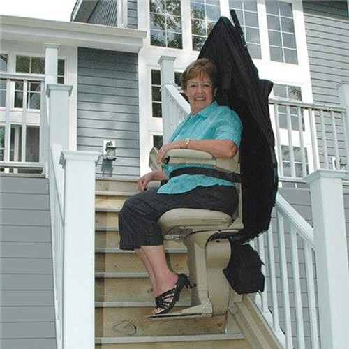 Outdoor Stair Lift for Straight Stairs | Bruno Elite 2010E