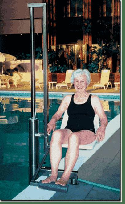 Aquajoy premier plus bath lift reclining bath lift for Swimming pool lifting out of ground