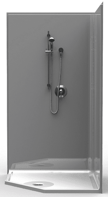 42 x 42 NeoAngle Shower Stall   One Piece