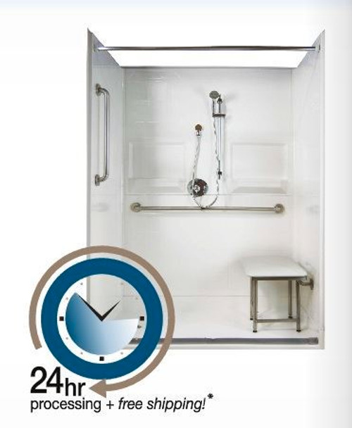 60 x 36 Shower Package Curbless Entry | 24 hr Quick Ship