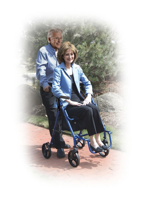 Duet | Rollator Transport Wheelchair Combo