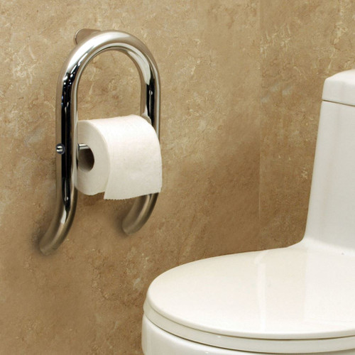 Toilet Paper Holder Integrated Grab Bar Invisia Collection