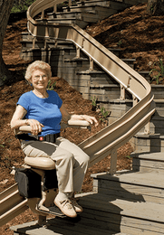 Outdoor Stair Lift for Stairs with Turns | Bruno Stair Lift