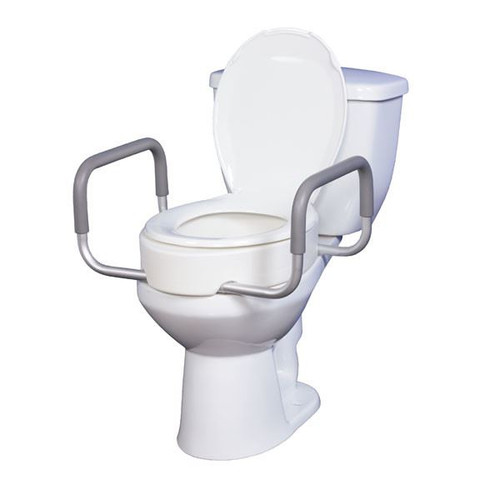 Toilet Seat Riser With Removable Arms Standard Toilet