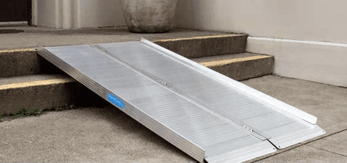 3 X 3 Folding Curb Ramp Portable Ramp By Alumiramp