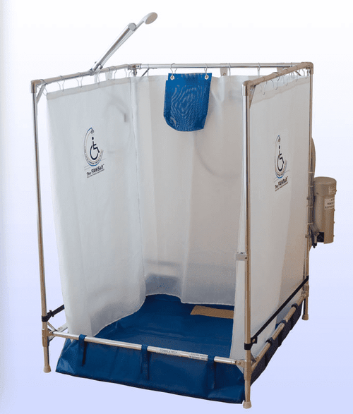 Portable Indoor Shower Fawssit S2000 Rehab Shower