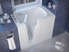 Walk-in Bathtub by Meditub 2646LWS White Left Hand