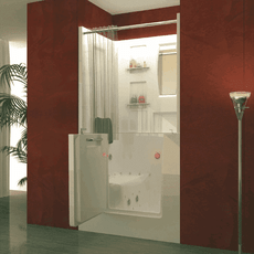 Walk-in Bathtub Shower Combo | Outswing Door | US Made