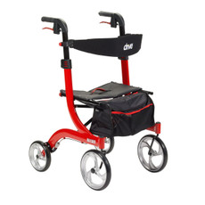 Nitro Aluminum Rollator with European Styling | Red