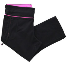 Pre-owned Lorna Jane Running Crop Black Combo (S)