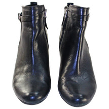 Pre-owned Sam Edelman Maddox Leather Ankle Booties Black (9)