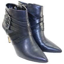BCBGeneration Zing Leather Ankle Boots Pointy Toe Zip-up Black  (9)