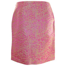 Pre-owned J. Crew Collection Silk Metallic Lined Skirt (6)