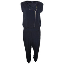 Pre-owned J. Crew Asymmetrical zip jumpsuit Black (8)