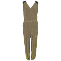 Pre-owned Leifsdottir for Anthropologie  Sani Lace Jumpsuit Olive (8)