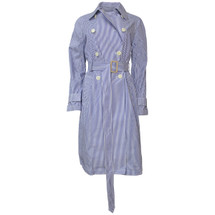 NWT J. CREW TRENCH COAT IN SHIRTING STRIPE (6)