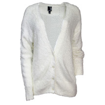 Pre-Owned Nordstrom Valette Fuzzy Sweater Cardigan Ivory (S)