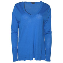Pre-Owned J. Crew Merino wool V-neck tunic sweater Ocean (M)
