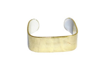 Pre-owned J. Crew gold cuff bracelet with white edges